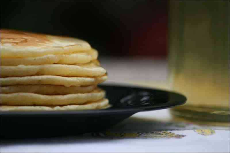 Pancakes à la farine de châtaignes