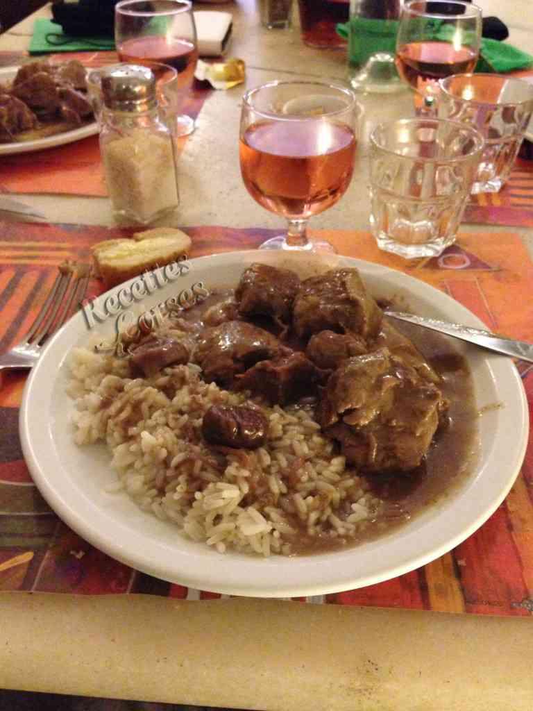 Sauté de porc à la Pietra et aux châtaignes
